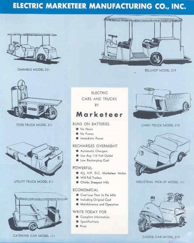 61Marketeer marketeer westinghouse nordskog history vintage golf cart