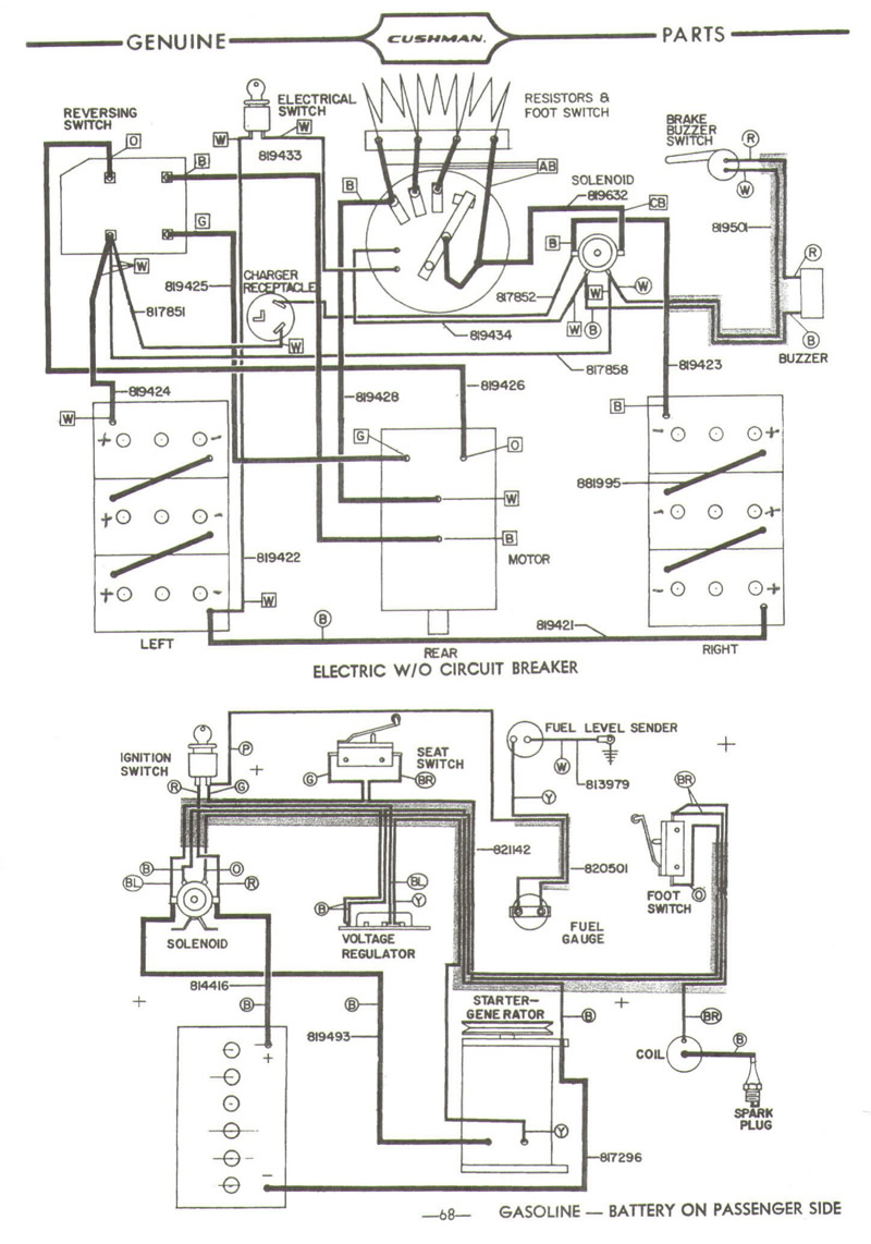 GranCushmanGC300and400page1 melex golf cart wiring diagram wiring diagram and schematic design cushman 36 volt wiring diagram at soozxer.org