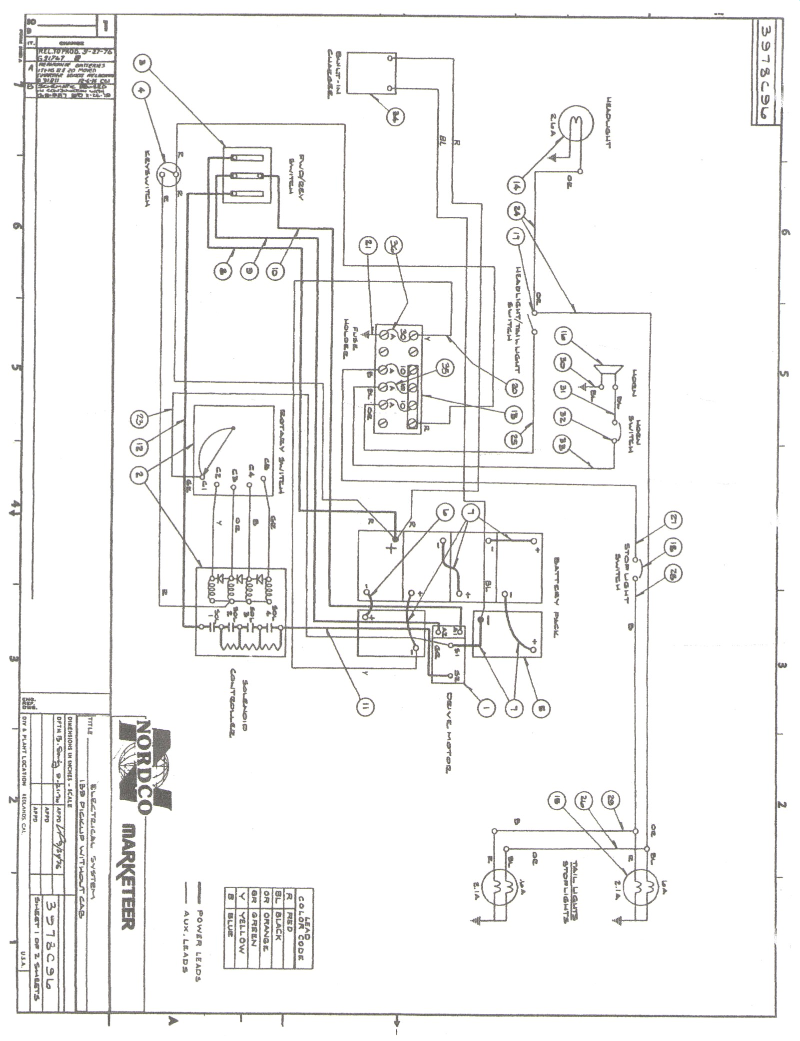 Walker Wiring Diagram Another Blog About Riding Mower Vintagegolfcartparts Com Electric Downrigger Starter