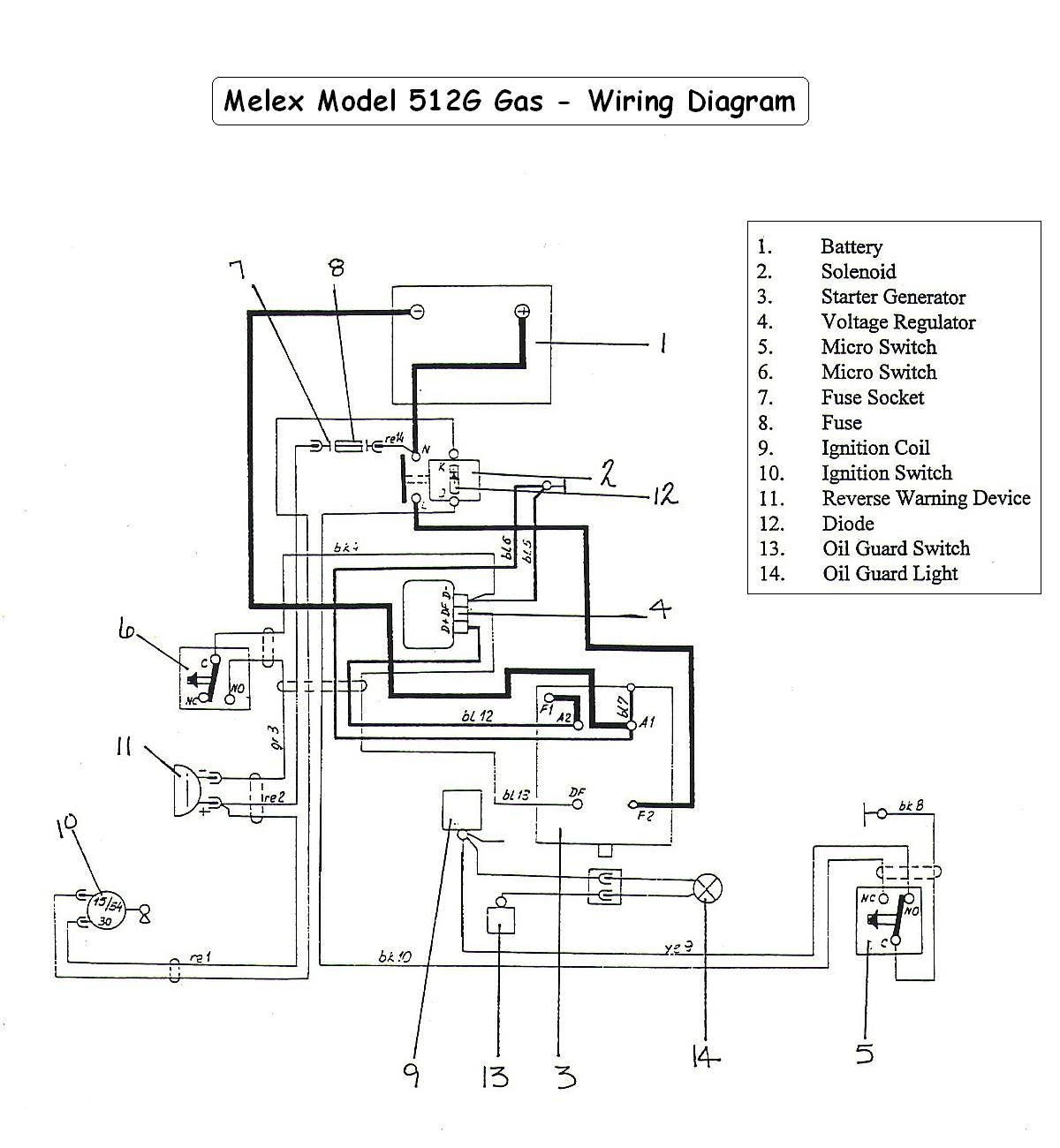 Wiring Diagram For Jato 2 5 27 Images Ck3100 Vintagegolfcartparts Com Melex512g 3 Way Switch To At