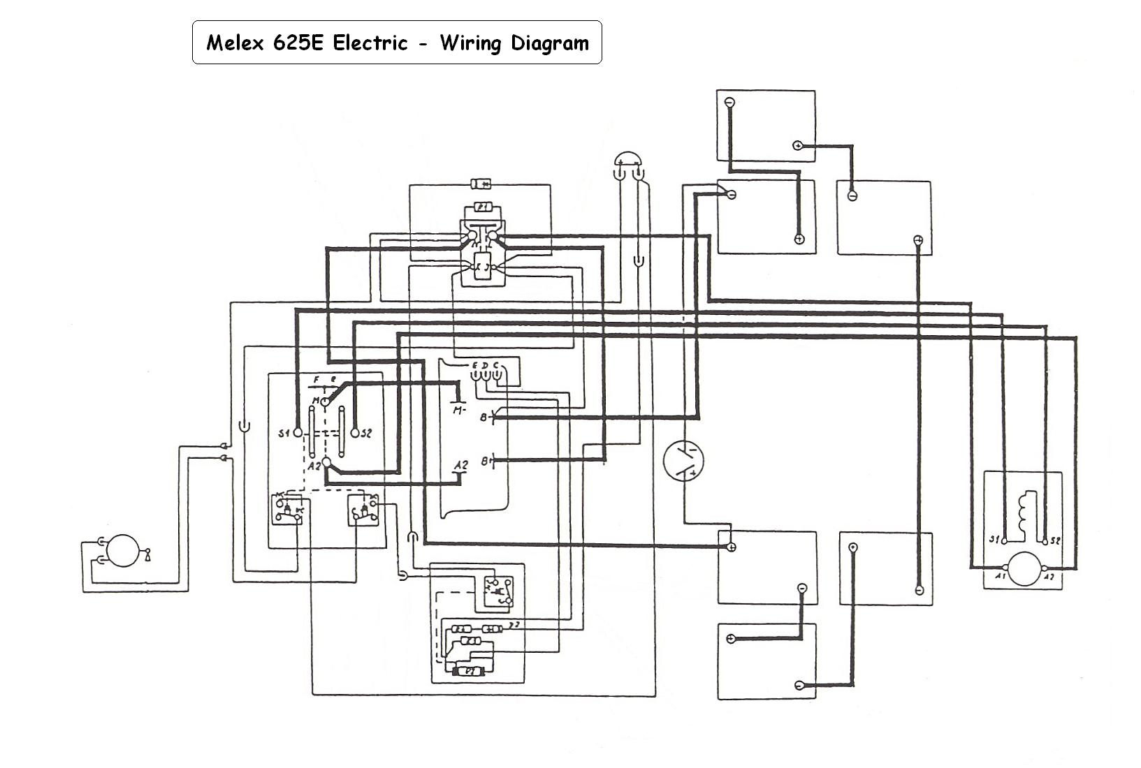Zone Electric Golf Cart Wiring Diagram 38 Images Yamaha 48 Volt Melex625e Looking For A Club Car To