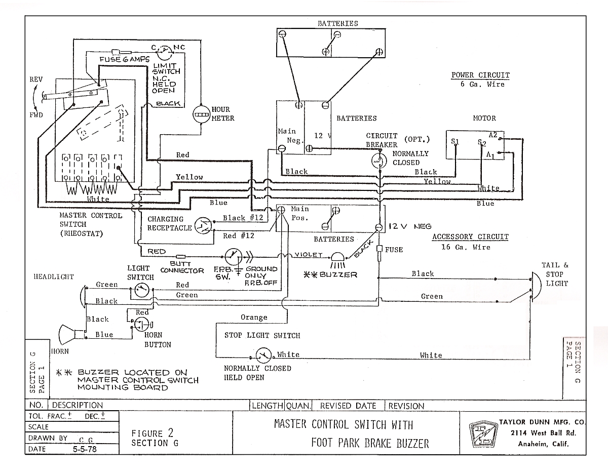 Taylor Dunn Electric Cart Wiring Diagram Schematics Diagrams Golf Electrical House Rh Maxturner Co B2