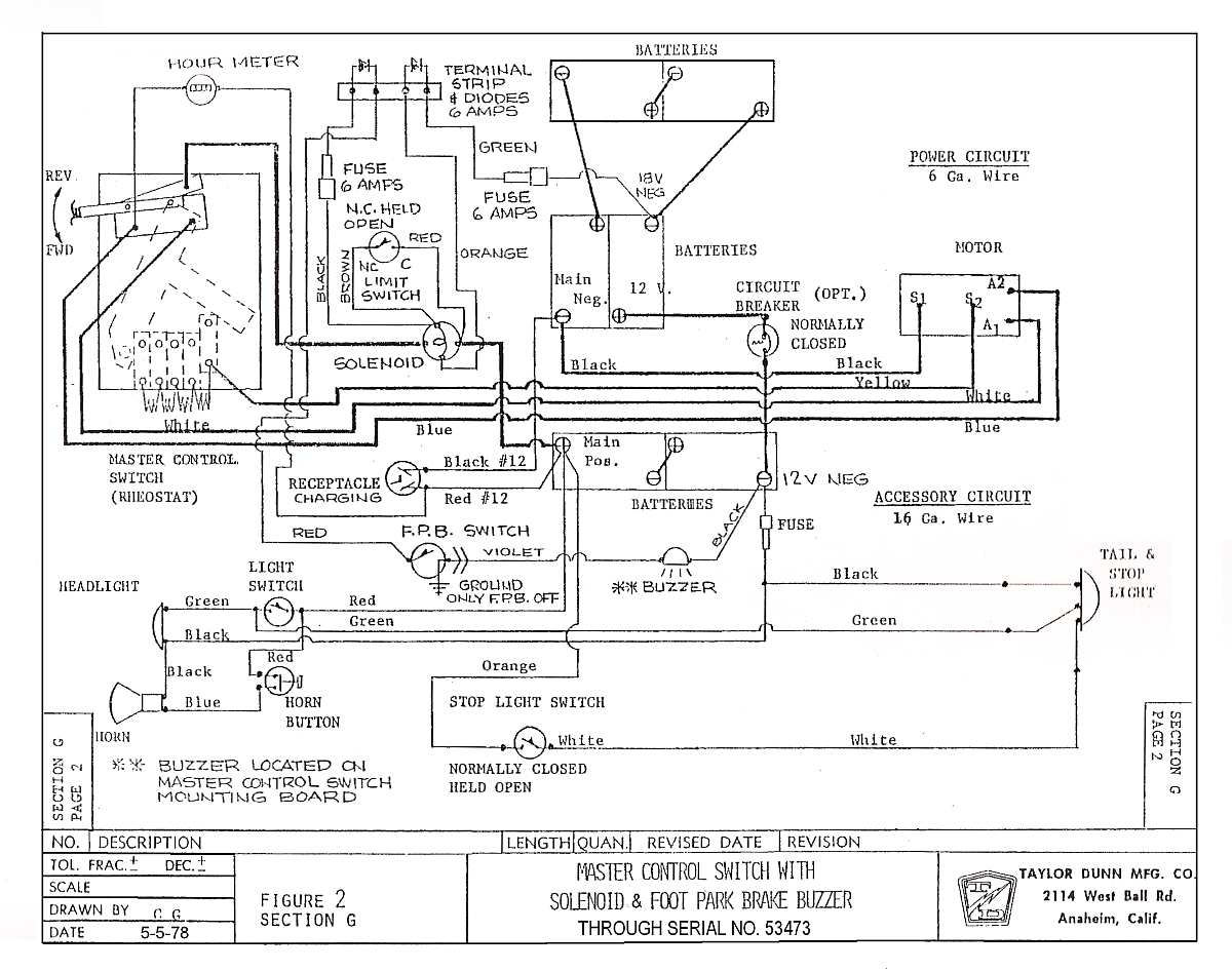 1979 ezgo golf cart wiring diagram