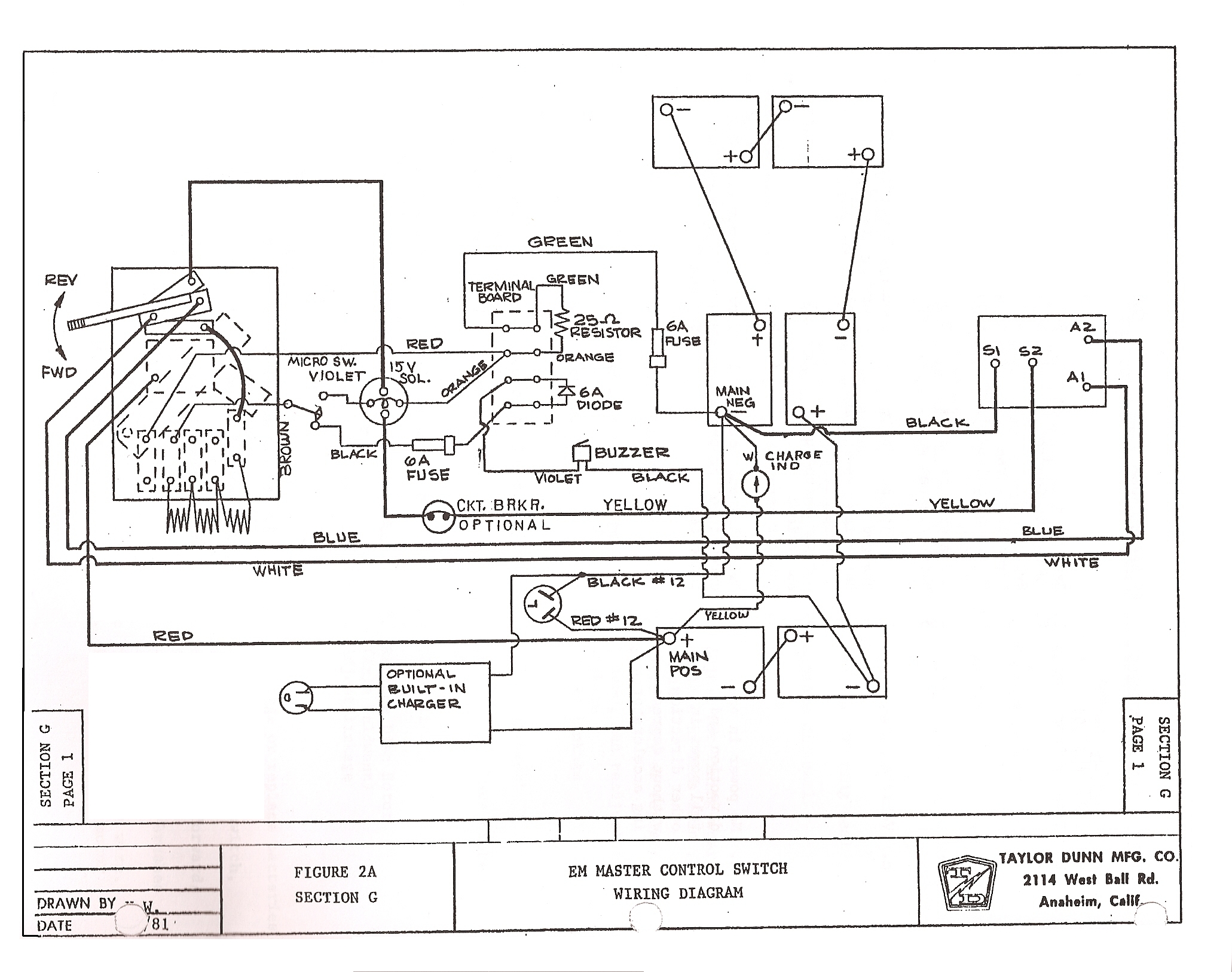 Taylor Dunn Electric Cart Wiring Diagram Like A Pro Basic Auto Electrical 36 Volt U2022 Rh 6weeks Co Uk 36v