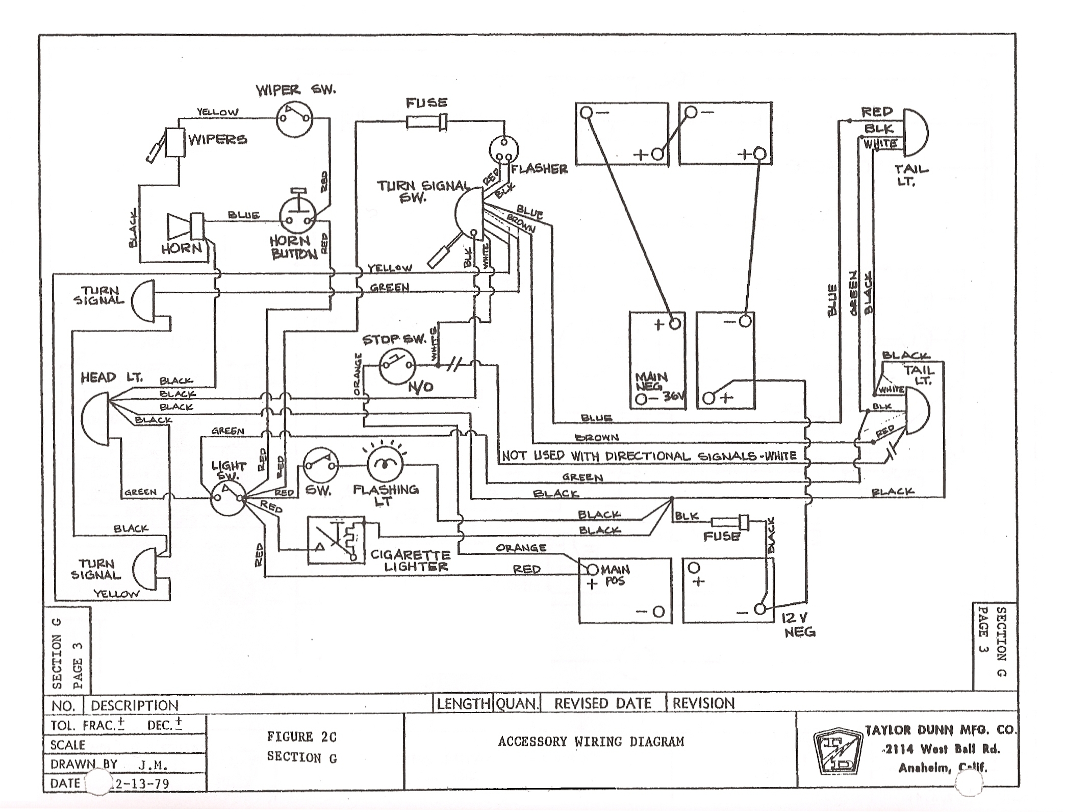 TD_GT370_71_81to85_003 taylor dunn wiring diagram wiring diagram and schematic design taylor dunn wiring harness at mr168.co