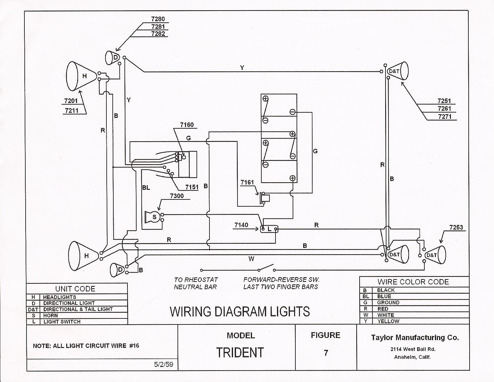 Ez Go Txt Wiring Diagram Club Car Light Library Switch Golf Cart Lights 36 Volt Ezgo