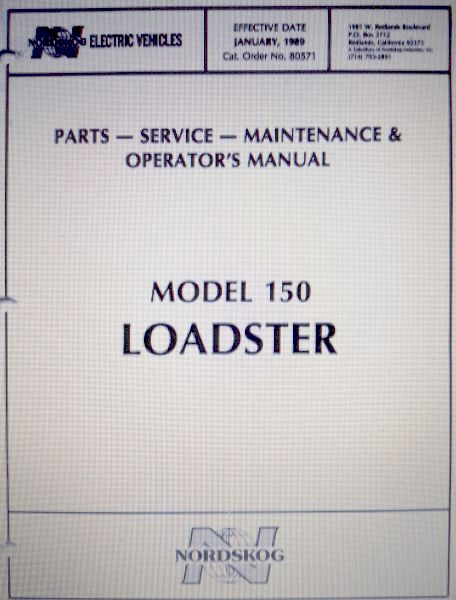 PU55-172 - Parts & Service Manual 150 Loadster