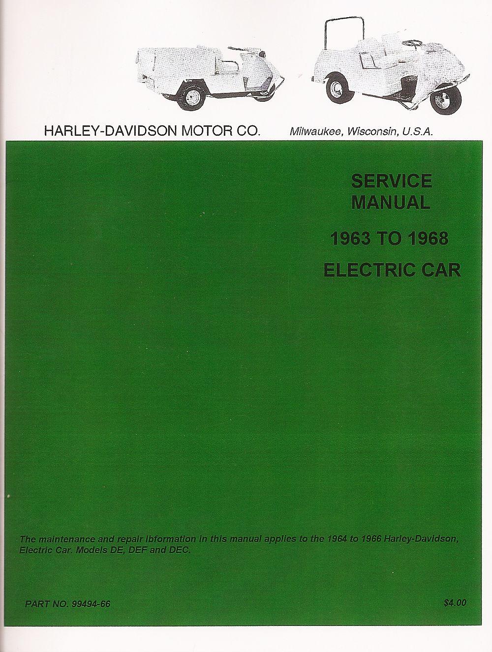 Pu11 002 Electric Service Manual 63 68 Vintage Golf Cart