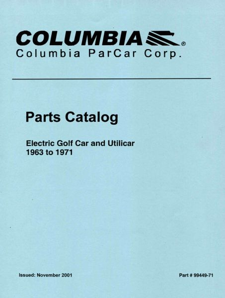 PU11-070 - Electric Parts Manual, '63-'71