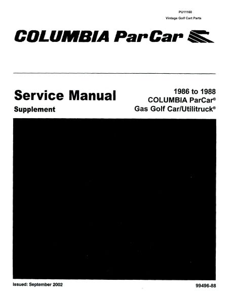 PU11-160 - Gas Manual Supplement, '86-'88
