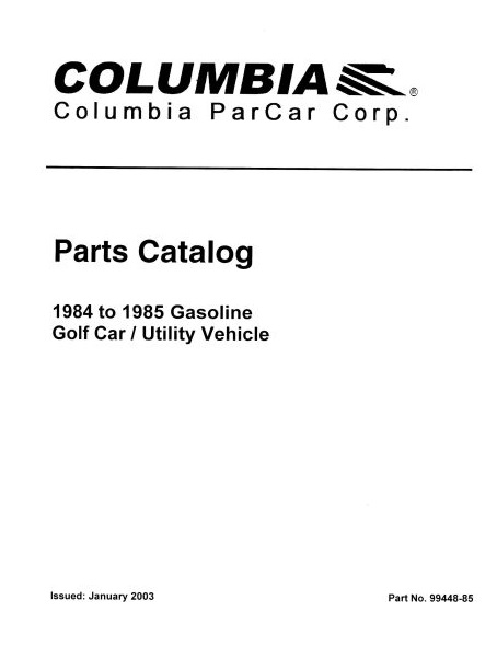 PU11-170 - Gas Parts Manual, '82-'86