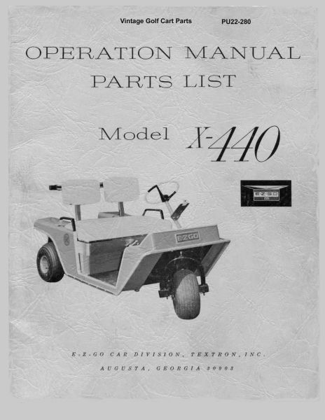 PU22-280 - Parts & Maint, Electric '65-'67