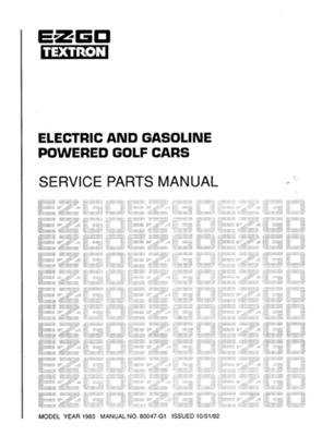PU22-330 - Parts Manual, Gas & Elec, '83