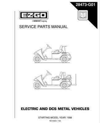 PU22-410 - Parts Manual, Electric, '98 & newer DCS