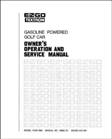 PU22-540 - Service Manual, Gas, '84-'86