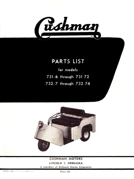 PU33-004 - Parts Manual, Electric, '54-'58