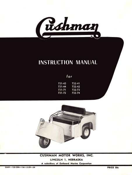 PU33-011 - Instruction Manual, Electric, '57-'58