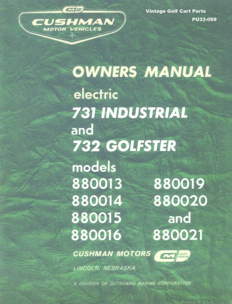 PU33-069 - Service Manual, Electric, '63