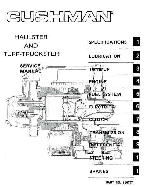 pu33 100 service manual  gas   76  94 vintage golf Cushman Golf Cart Wiring Diagram Polaris Golf Cart Wiring Diagram