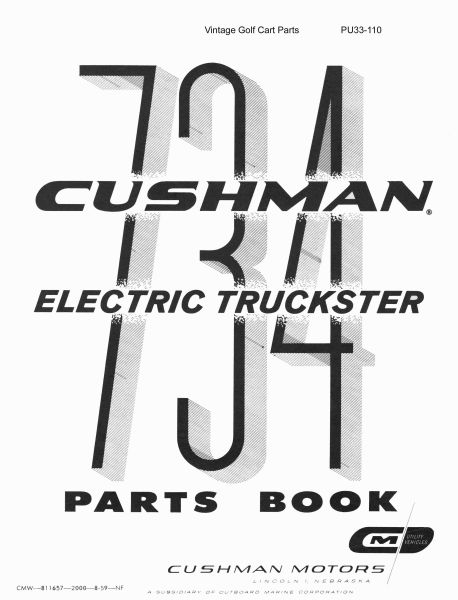 PU33-110 - Parts Manual, Electric, '59-'62