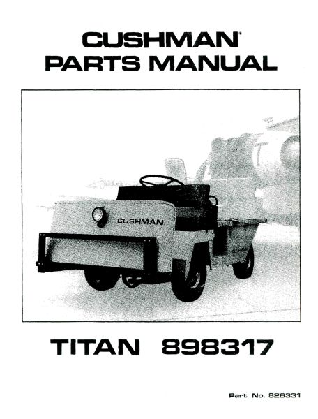PU33-170 - Parts Manual, Electric, '79-'83