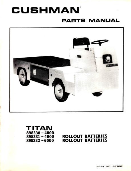 PU33-175 - Parts Manual, Electric, '81-'85