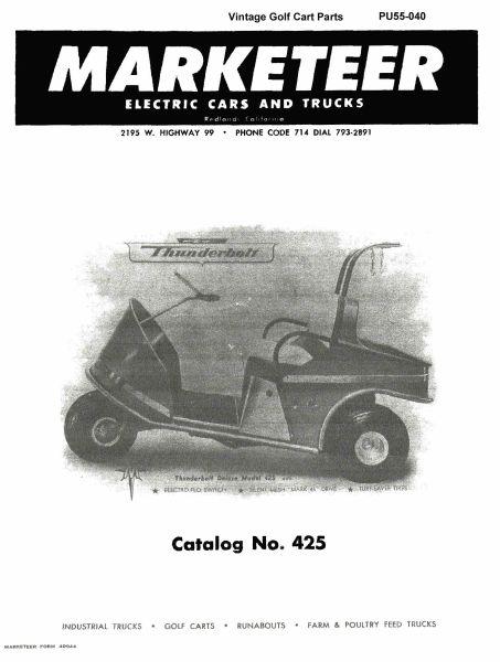 pu55 040 parts manual 425 vintage golf cart parts inc. Black Bedroom Furniture Sets. Home Design Ideas