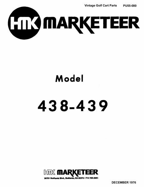 pu55-080 - parts manual  438  u0026 439