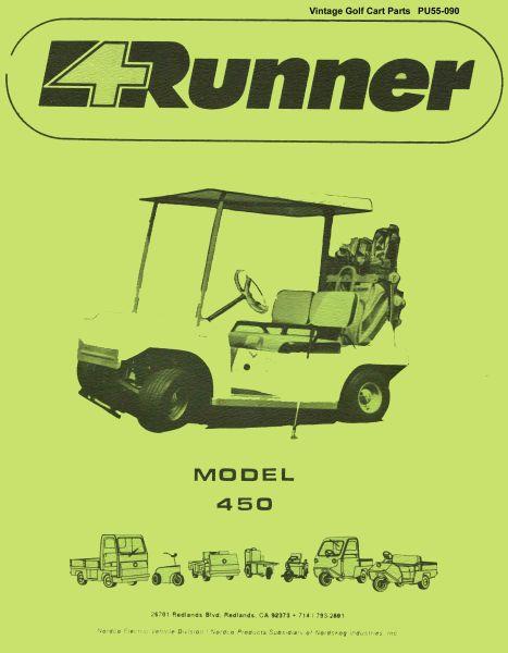 PU55 090 pu55 090 parts manual, 450 vintage golf cart parts inc