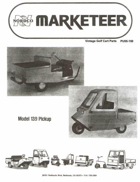 PU55 150 pu55 150 parts manual, 139 vintage golf cart parts inc