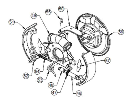 BK33-180 - Torque Spider Assembly, Hydraulic Brakes