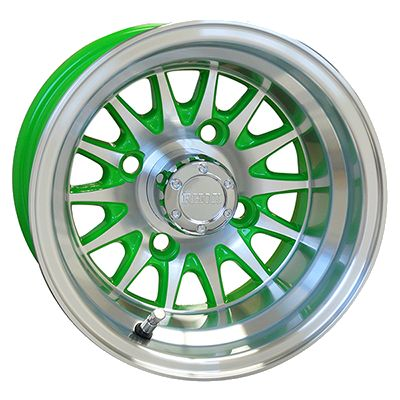 WM11-146 - Phoenix Machined Aluminum Wheel, Green