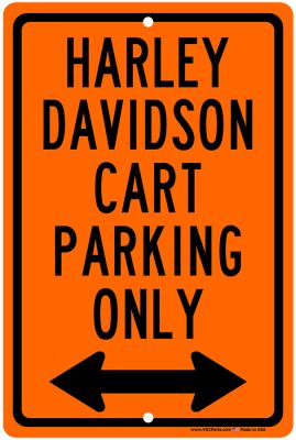 AC11-620 - Vintage Harley Davidson Cart Parking Only