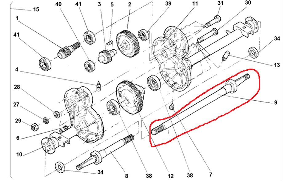 AX66-120 - Right Rear Axle, Electric