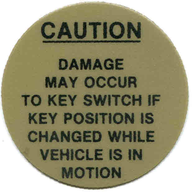 BD11-745 - Caution Decal