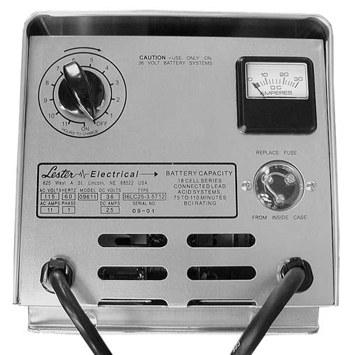 BT11-002 - Battery Charger, Manual, 36 Volt, 25 Amp, Crowsfoo, NLA