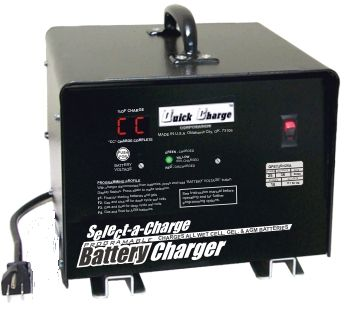 BT11-008 - Battery Charger, 36 Volt, 12 Amp, Crowsfoot
