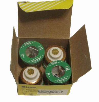 BT11-127 - Fuse, 30 Amp, T, pkg of 4, Narrow Thread
