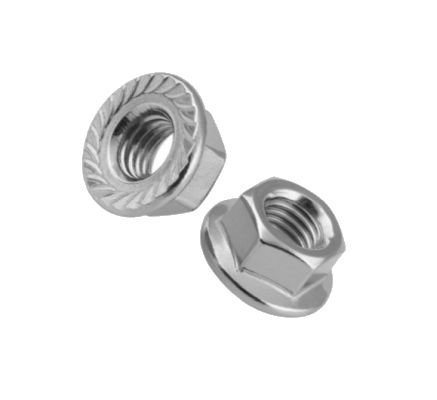 HW53-104 - 6mm-1.00 Flanged Stainless Whizlock Nut