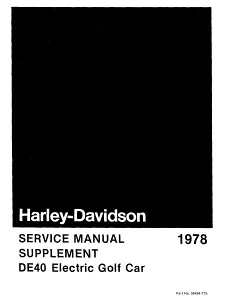 PU11-020 - Electric Service Manual Supplement, '78