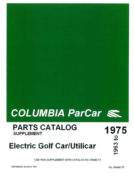 PU11-080 - Electric Parts Manual Supplement, '72-'78