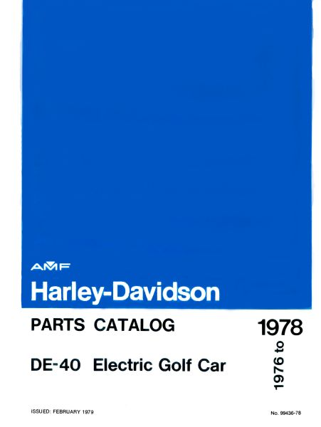 PU11-090 - Electric Parts Manual, '76-'78