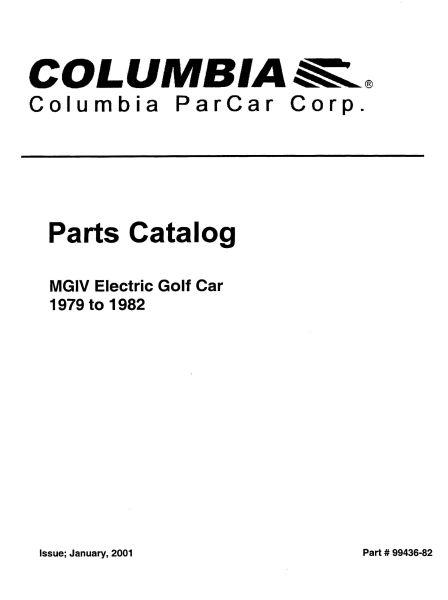 PU11-110 - Electric Parts Manual, '79-'82