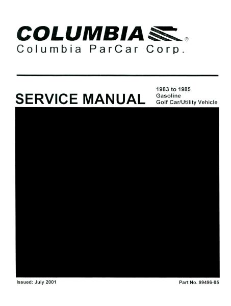 service manuals gas vintage golf cart parts inc rh vintagegolfcartparts com 1987 par car service manual columbia par car service manual