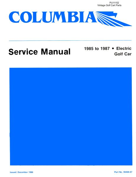PU11-152 - Electric Service Manual, '83-'87