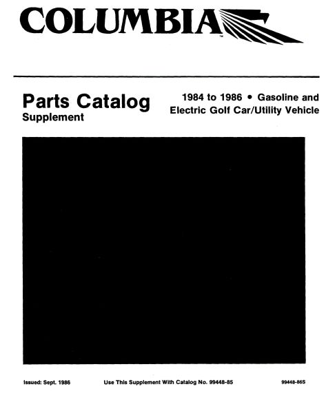 PU11-180 - Gas & Elec Parts Manual Supplement, '84-'86