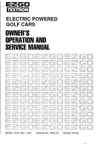 PU22-020 - Service Manual, Electric, '82-'83