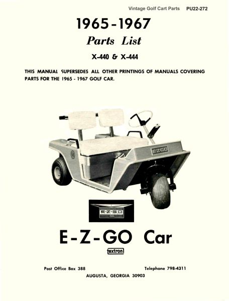 PU22-272 - Parts Manual, Electric, '65-'67