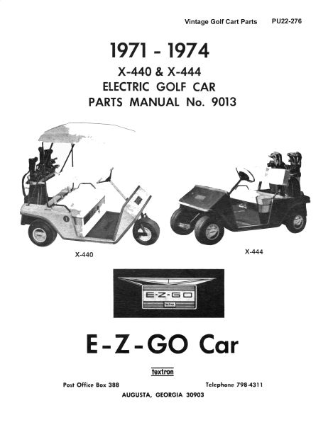 PU22-276 - Parts Manual, Electric, '71-'74
