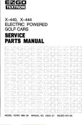 PU22-340 - Parts Manual, Electric, '84-'86